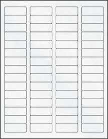 "Sheet of 1.75"" x 0.666"" Clear Matte Laser labels"