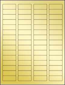 """Sheet of 1.75"""" x 0.666"""" Gold Foil Inkjet labels"""