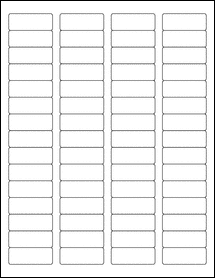 "Sheet of 1.75"" x 0.666"" 100% Recycled White labels"