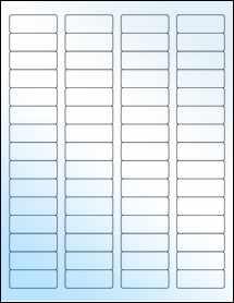 """Sheet of 1.75"""" x 0.666"""" White Gloss Inkjet labels"""