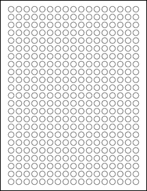 """Sheet of 0.33"""" x 0.33""""  labels"""