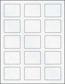 """Sheet of 2.125"""" x 1.6875"""" Clear Matte Inkjet labels"""
