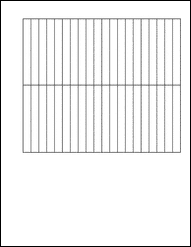 """Sheet of 0.354"""" x 3""""  labels"""