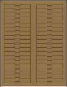 """Sheet of 3.375"""" x 0.5"""" Brown Kraft labels"""