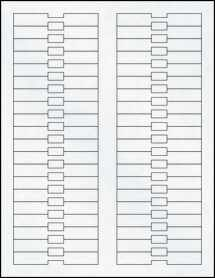 "Sheet of 3.38"" x 0.5"" Clear Matte Inkjet labels"