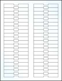 """Sheet of 3.375"""" x 0.5"""" Clear Gloss Laser labels"""