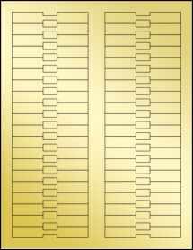 """Sheet of 3.375"""" x 0.5"""" Gold Foil Laser labels"""