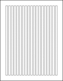 """Sheet of 0.25"""" x 9.5""""  labels"""