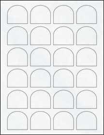 "Sheet of 1.65"" x 1.5"" Clear Matte Laser labels"