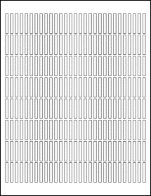 """Sheet of 0.1475"""" x 1.1175""""  labels"""