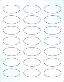 "Sheet of 2.25"" x 1.125"" Oval Clear Gloss Laser labels"