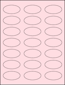 """Sheet of 2.25"""" x 1.125"""" Oval Pastel Pink labels"""