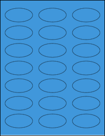"""Sheet of 2.25"""" x 1.125"""" Oval True Blue labels"""