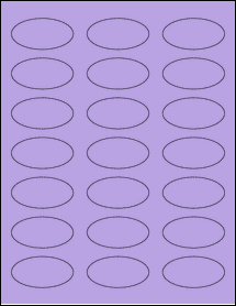 """Sheet of 2.25"""" x 1.125"""" Oval True Purple labels"""