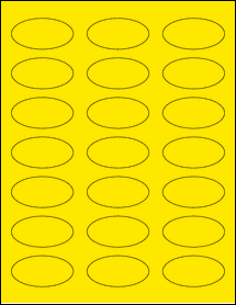 """Sheet of 2.25"""" x 1.125"""" Oval True Yellow labels"""