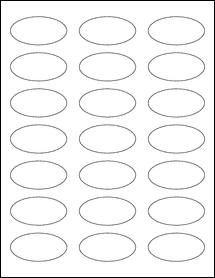 """Sheet of 2.25"""" x 1.125"""" Oval Aggressive White Matte labels"""