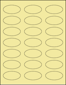 "Sheet of 2.25"" x 1.125"" Oval Pastel Yellow labels"