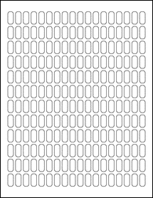 """Sheet of 0.31"""" x 0.7""""  labels"""