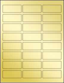 "Sheet of 2.5"" x 1"" Gold Foil Inkjet labels"