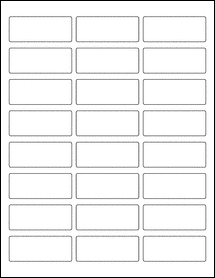 "Sheet of 2.5"" x 1"" 100% Recycled White labels"