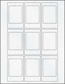 """Sheet of 2.125"""" x 3.375"""" Clear Matte Inkjet labels"""