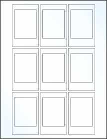 "Sheet of 2.125"" x 3.375"" Clear Gloss Inkjet labels"