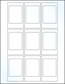 """Sheet of 2.125"""" x 3.375"""" Clear Gloss Laser labels"""