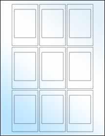 """Sheet of 2.125"""" x 3.375"""" White Gloss Inkjet labels"""