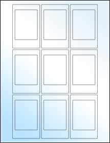 """Sheet of 2.12"""" x 3.38"""" White Gloss Laser labels"""