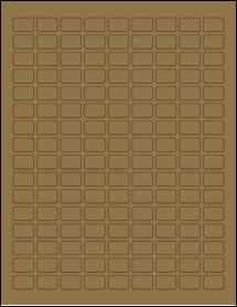 """Sheet of 0.75"""" x 0.5"""" Brown Kraft labels"""