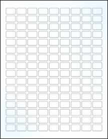 """Sheet of 0.75"""" x 0.5"""" Clear Gloss Laser labels"""