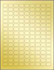 """Sheet of 0.75"""" x 0.5"""" Gold Foil Inkjet labels"""