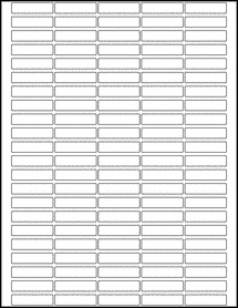 "Sheet of 1.5"" x 0.375""  labels"