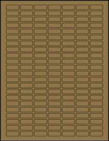 "Sheet of 1"" x 0.375"" Brown Kraft labels"