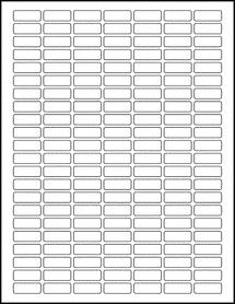 "Sheet of 1"" x 0.375"" Blockout for Laser labels"