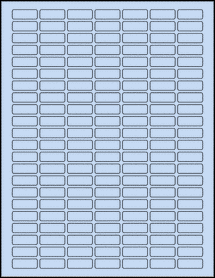"Sheet of 1"" x 0.375"" Pastel Blue labels"