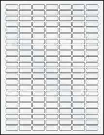 """Sheet of 1"""" x 0.375"""" Clear Matte Inkjet labels"""