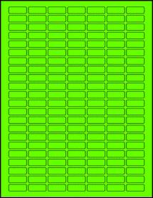 """Sheet of 1"""" x 0.375"""" Fluorescent Green labels"""