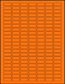 "Sheet of 1"" x 0.375"" Fluorescent Orange labels"