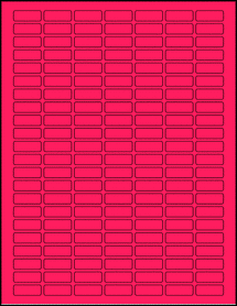 "Sheet of 1"" x 0.375"" Fluorescent Pink labels"