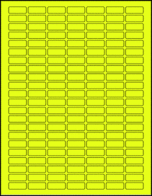 "Sheet of 1"" x 0.375"" Fluorescent Yellow labels"