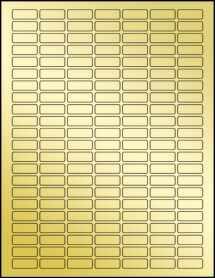 """Sheet of 1"""" x 0.375"""" Gold Foil Laser labels"""