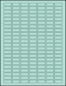 "Sheet of 1"" x 0.375"" Pastel Green labels"