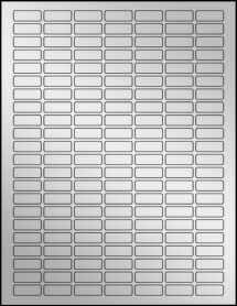 """Sheet of 1"""" x 0.375"""" Silver Foil Inkjet labels"""