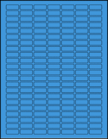 "Sheet of 1"" x 0.375"" True Blue labels"