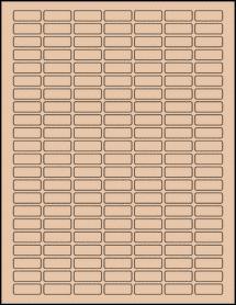 "Sheet of 1"" x 0.375"" Light Tan labels"