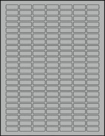 "Sheet of 1"" x 0.375"" True Gray labels"