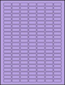 """Sheet of 1"""" x 0.375"""" True Purple labels"""
