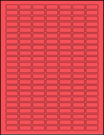 """Sheet of 1"""" x 0.375"""" True Red labels"""