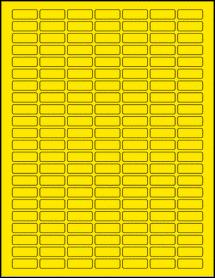 "Sheet of 1"" x 0.375"" True Yellow labels"